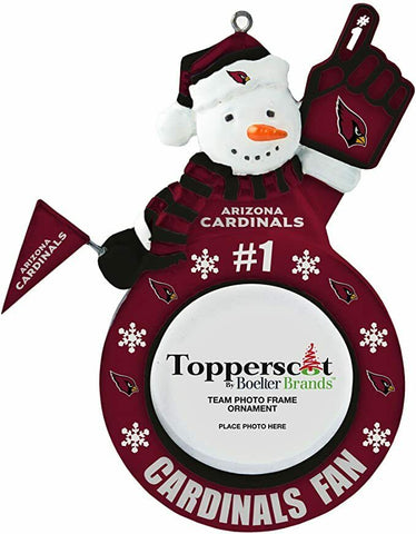 ARIZONA CARDINALS NFL Snowman Photo Frame Christmas Ornament