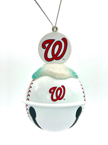 WASHINGTON NATIONALS MLB Metal Baseball Bell Ornament