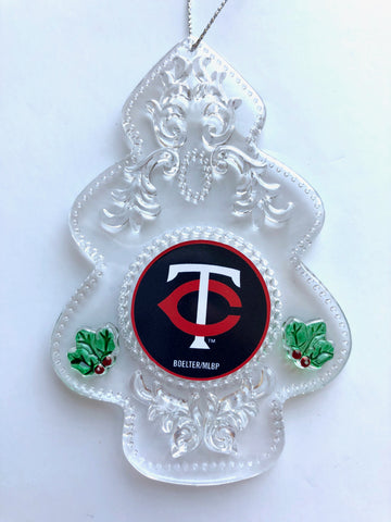 MINNESOTA TWINS MLB Acrylic Christmas Tree Ornament