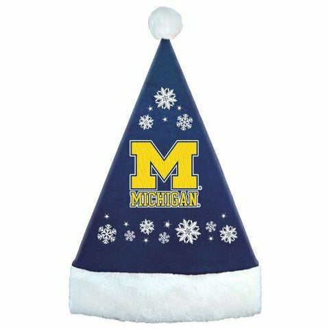 MICHIGAN WOLVERINES NCAA Snowflake Christmas Santa Hat