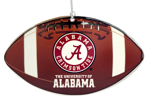 ALABAMA CRIMSON TIDE NCAA Metal Football Ornament