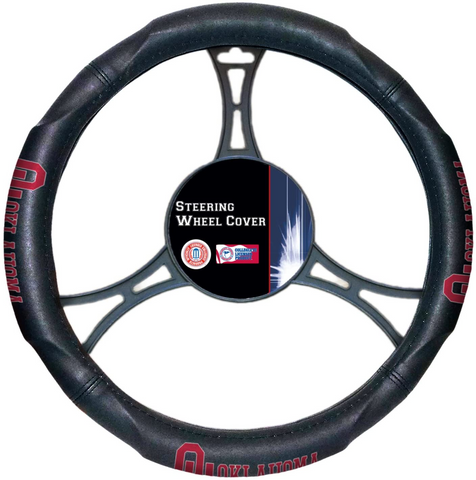 OKLAHOMA SOONERS NCAA Premium Synthetic Leather Steering Wheel Cover