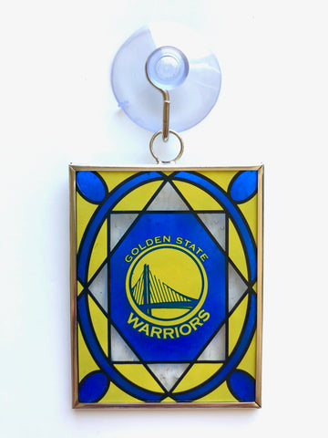 GOLDEN STATE WARRIORS NBA Stained Glass Christmas Ornament & Suncatcher