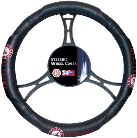 ALABAMA CRIMSON TIDE NCAA Premium Synthetic Leather Steering Wheel Cover