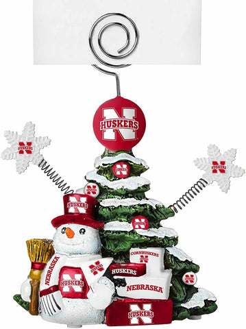 NEBRASKA CORNHUSKERS NCAA Christmas Tree Photo Holder with Snowman