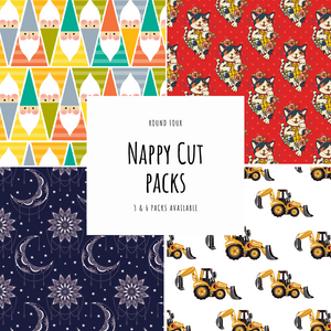 PUL fabric nappy cut