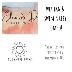 Blossom Bums Large Wet Bag & Elsie + D Swim Nappy