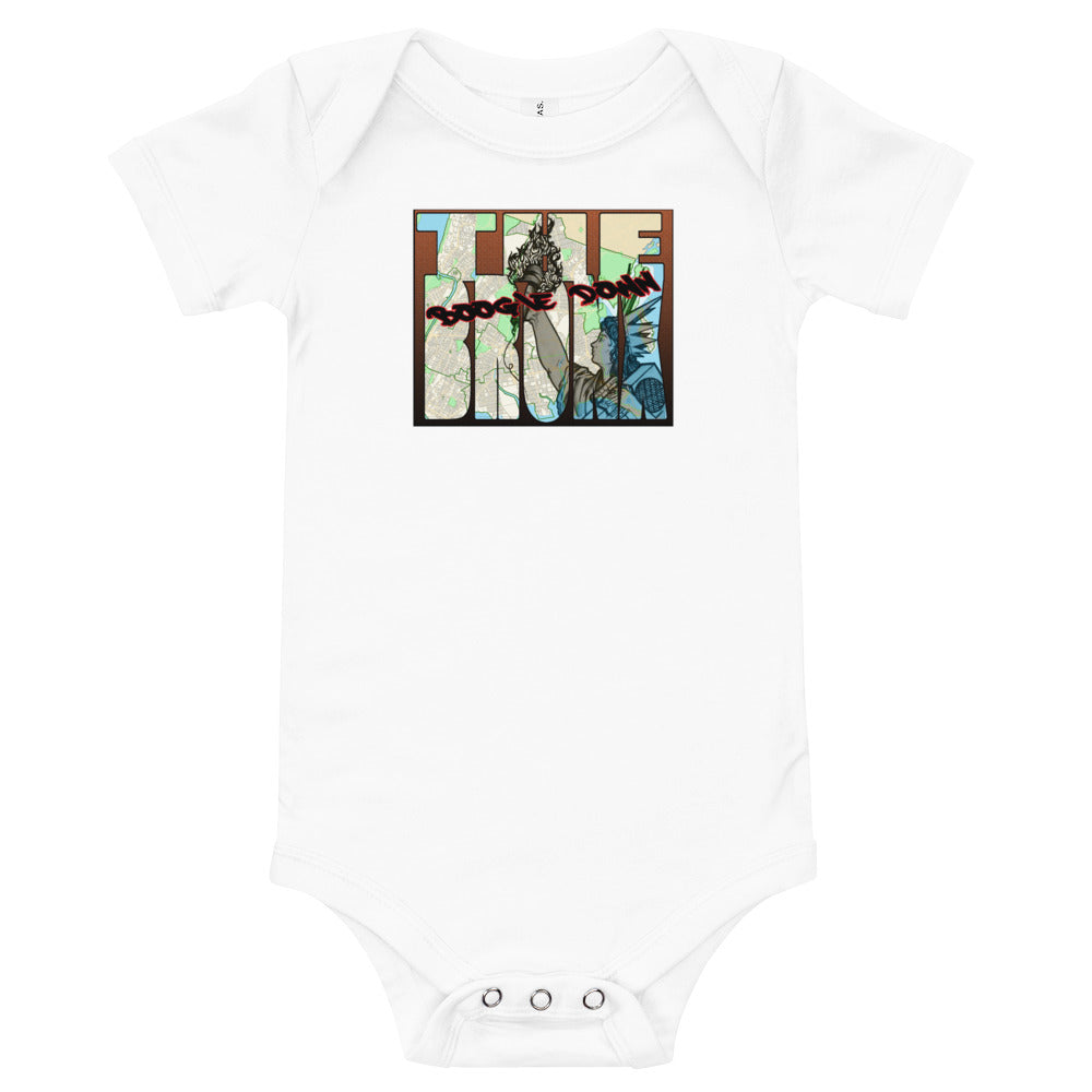 Boogie Down Bronx One Piece Baby T-Shirt