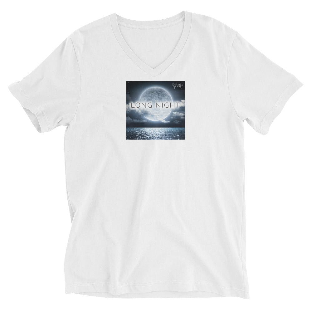 Long Night V-Neck T-Shirt White