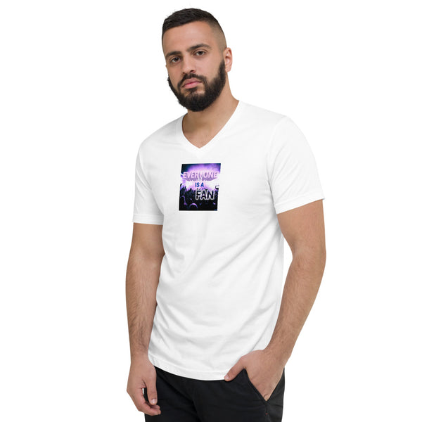 Everyone Is A Fan V-Neck T-Shirt White