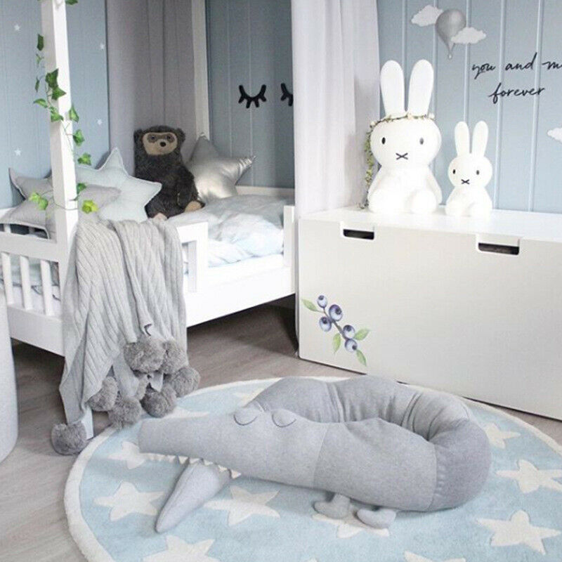 185cm Baby Toddler Plush Crib Bumper Bed Bedding Cot Crocodile Pillow Protector
