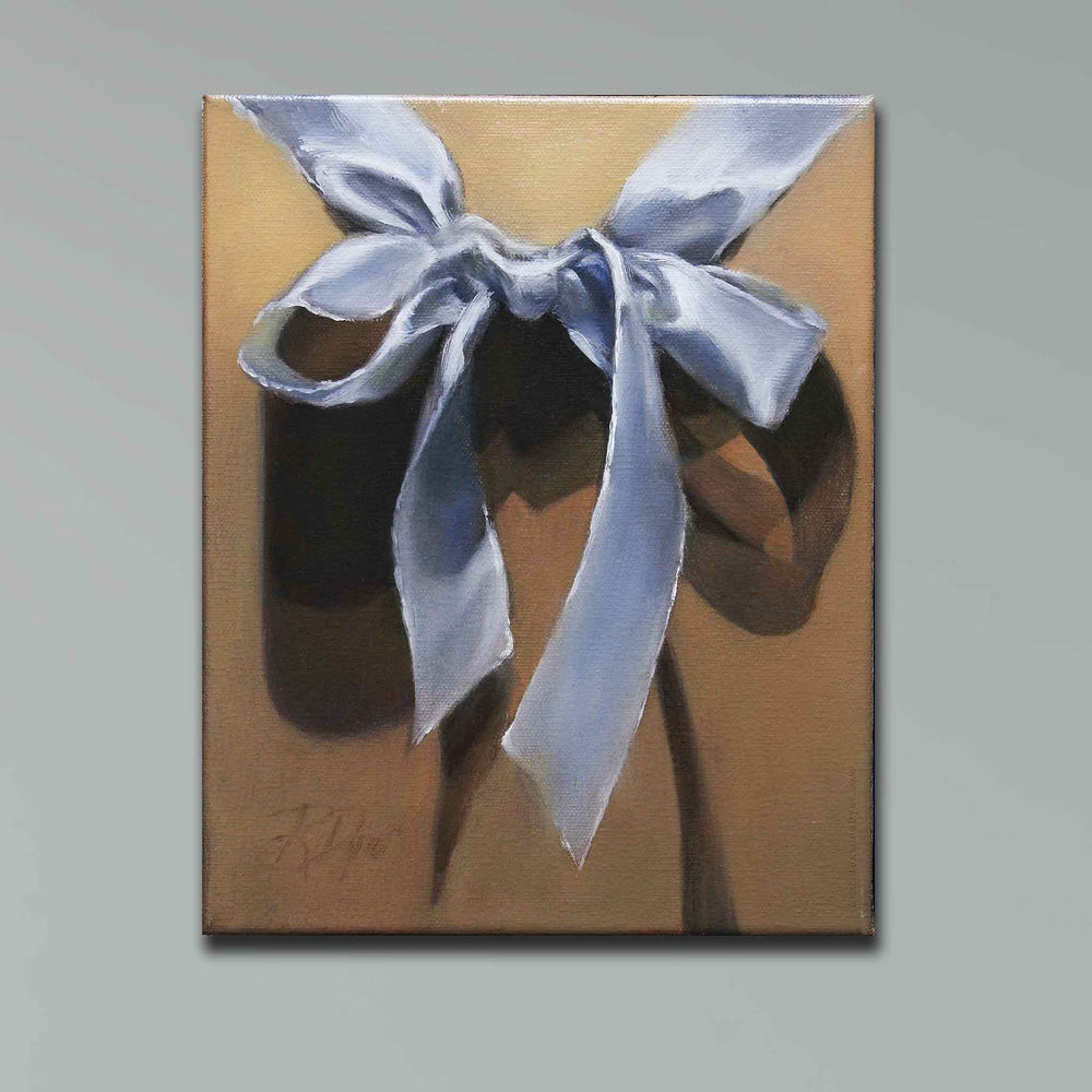 Load image into Gallery viewer, Blue Satin Bow