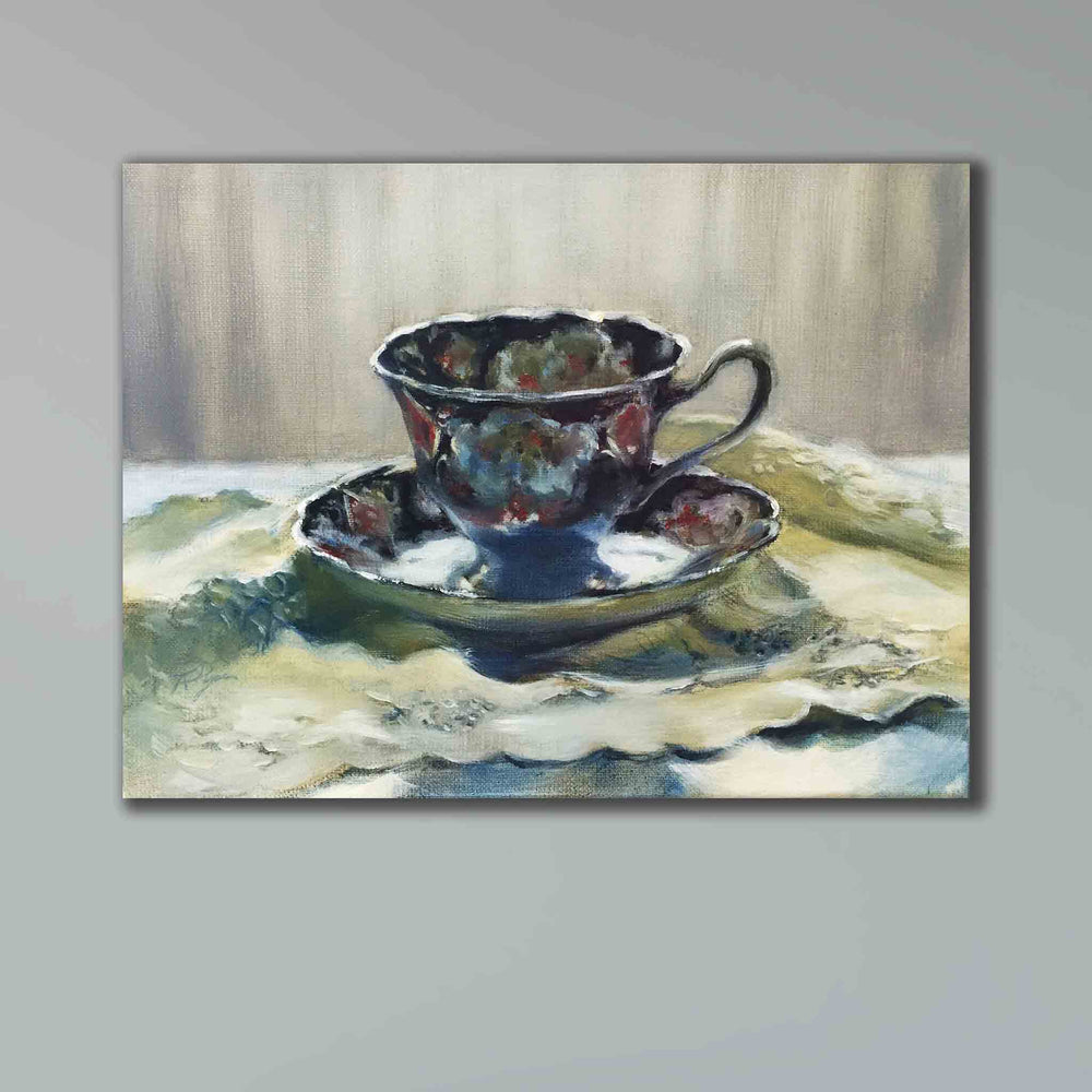 SOLD Duchess 1 TEACUP original oil painting
