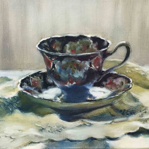 Load image into Gallery viewer, SOLD Duchess 1 TEACUP original oil painting