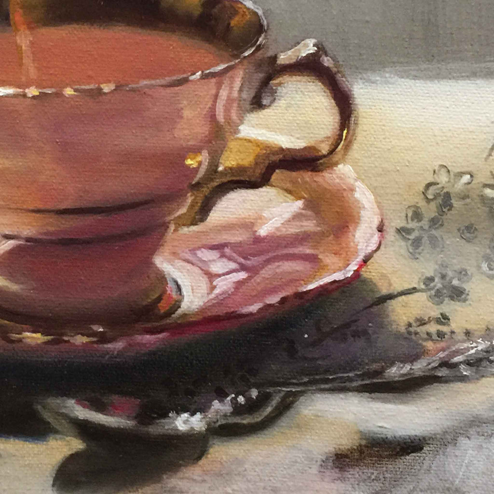 Load image into Gallery viewer, SOLD Duchess 3 TEACUP original oil painting
