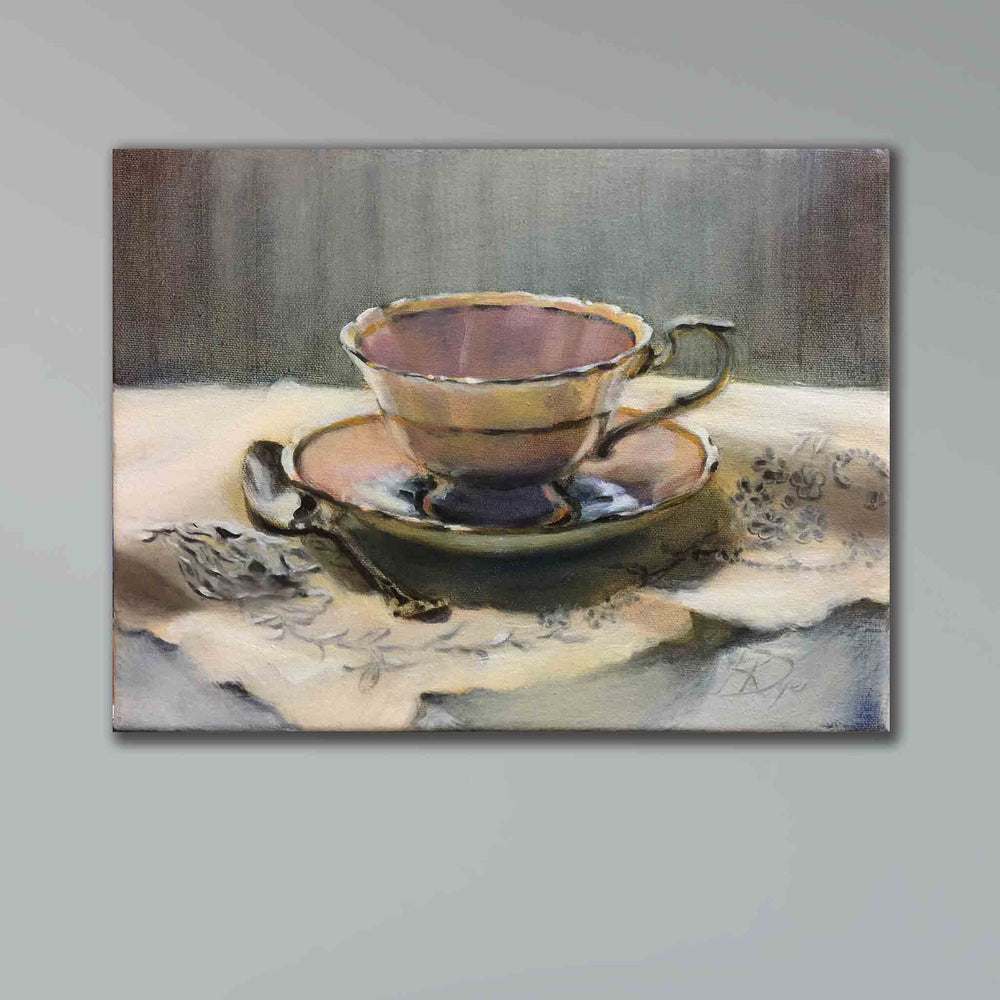 Load image into Gallery viewer, Duchess 5 TEACUP original oil painting