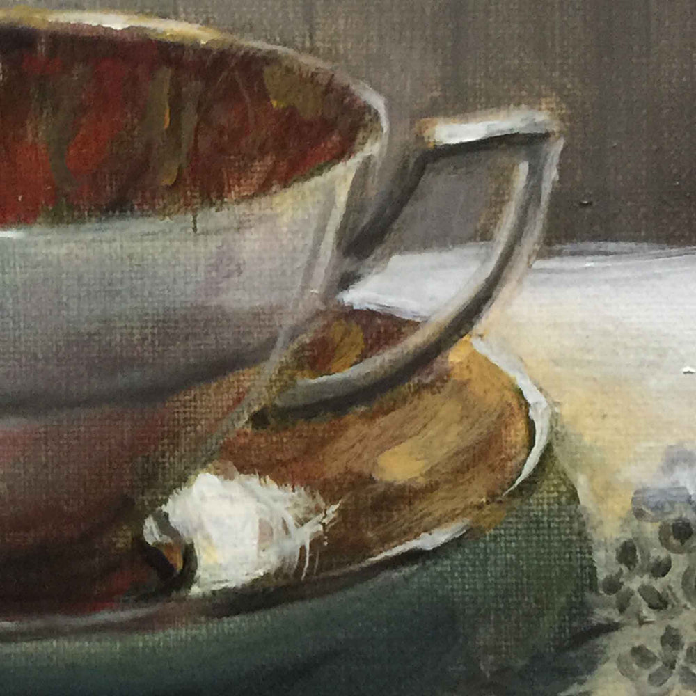 Load image into Gallery viewer, Duchess 6 TEACUP original oil painting