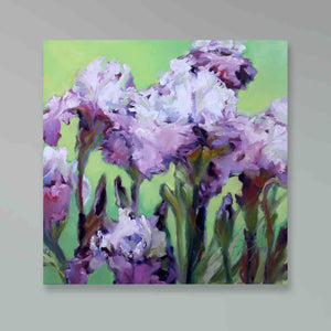 "Load image into Gallery viewer, ""Iris 2"" original oil painting"