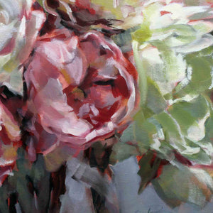 "Load image into Gallery viewer, ""Peony Impressions 2"" original oil painting"