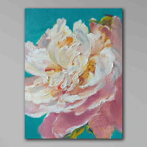 Load image into Gallery viewer, Peony on Emerald Ground 2