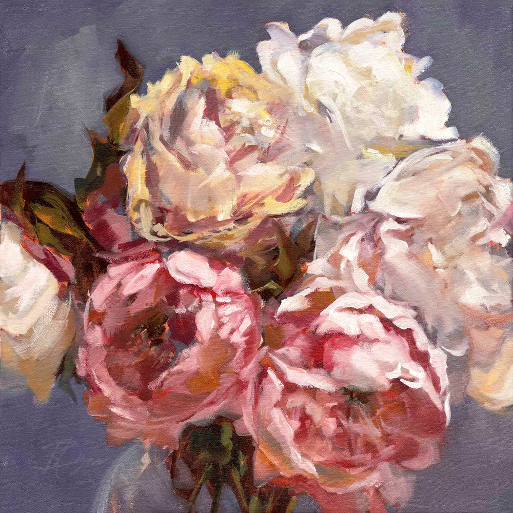 "Load image into Gallery viewer, SOLD ""Peony Impressions 1"", original oil painting"