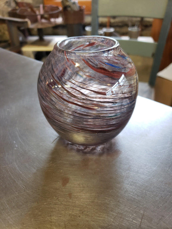 Small Dark Dust Vase-Glass-Three Sisters Garden