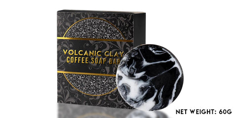 Label - Volcanic Clay Coffee Sculpting Soap Bar