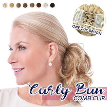 Load image into Gallery viewer, Curly Bun Comb Clip