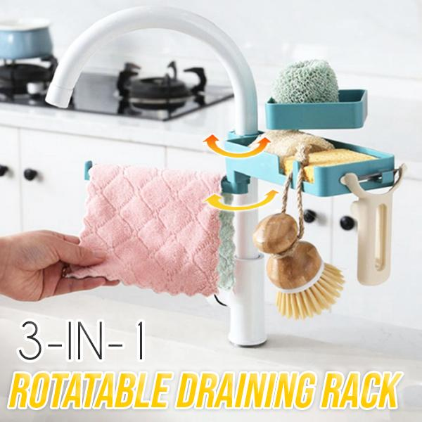 3-in-1 Rotatable Draining Rack