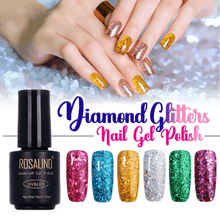 Load image into Gallery viewer, Diamond Glitter Nail Gel Polish