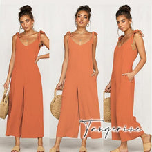 Load image into Gallery viewer, LaxChic V-Back Jumpsuit