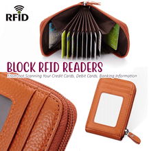 Load image into Gallery viewer, RFID Leather Card Holder