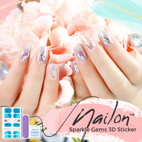 Nailon™ Sparkle Gems 3D Sticker