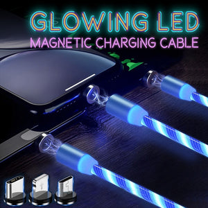 Glowing LED Magnetic Charging Cable