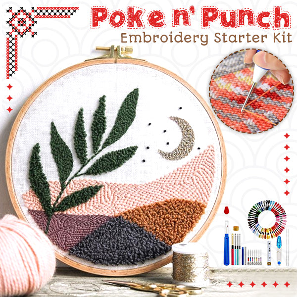 Poke n' Punch Embroidery Starter Kit