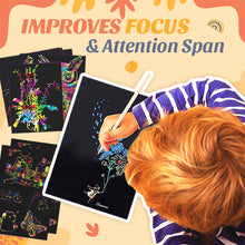 Load image into Gallery viewer, Secret Rainbow Scratch Paper Art Set