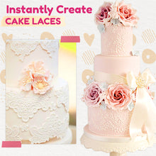 Load image into Gallery viewer, Silicone Lace Fondant Cake Mat