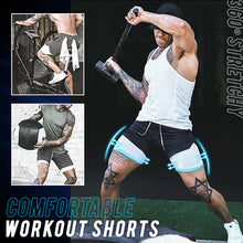 Load image into Gallery viewer, SportLeap™ 2 Layered Secret Pocket Shorts