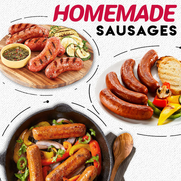 One Press Sausage Maker.7 Sausages in One Press Non Stick Kitchen Barbecue Grilling Party Molds for Easily Making Delicious Stuffed Sausages