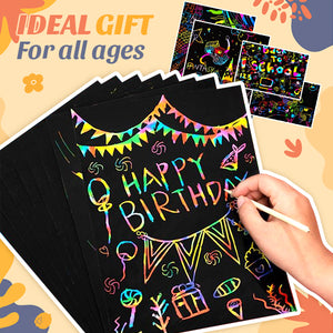 Secret Rainbow Scratch Paper Art Set