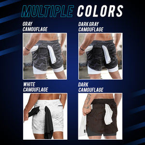 SportLeap™ 2 Layered Secret Pocket Shorts
