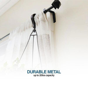 1 Second Curtain Rod Holder