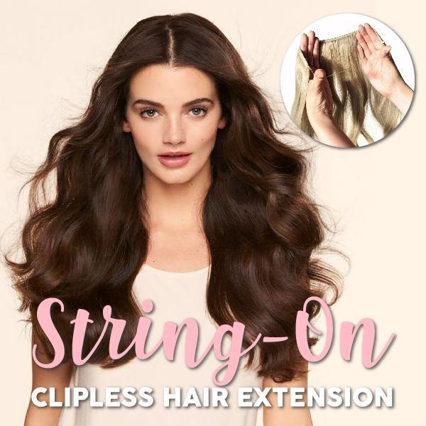 String-On Clipless Hair Extension
