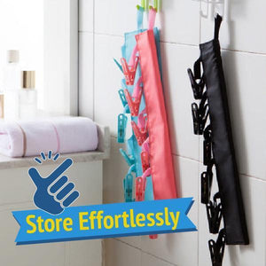 Travel Clothespins Hanger