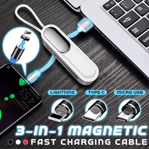3-in-1 Magnetic Fast Charging Cable