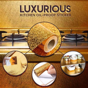 Luxurious Kitchen Oil-proof Stickers