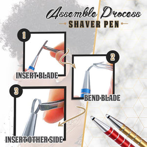 Hair Engraving Pen (With 10 Blades)