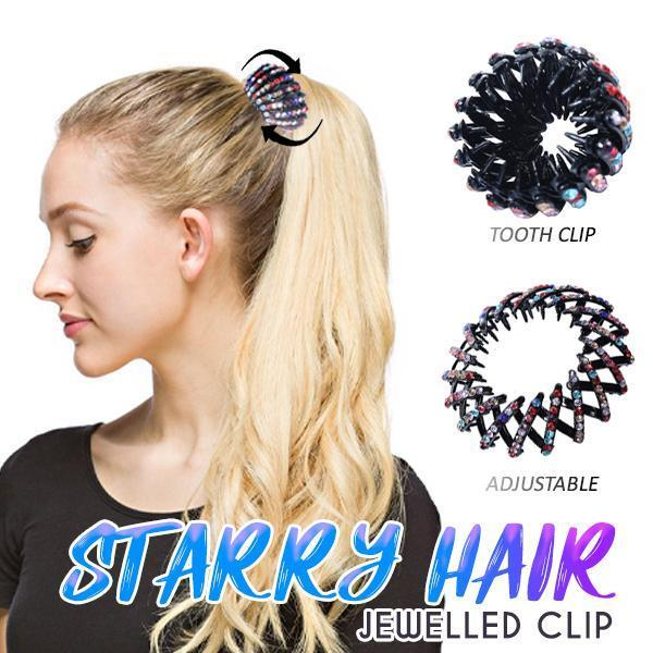 Starry Hair Jewelled Clips