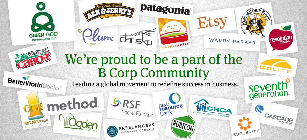 We're proud to be a part of the B Corp Community