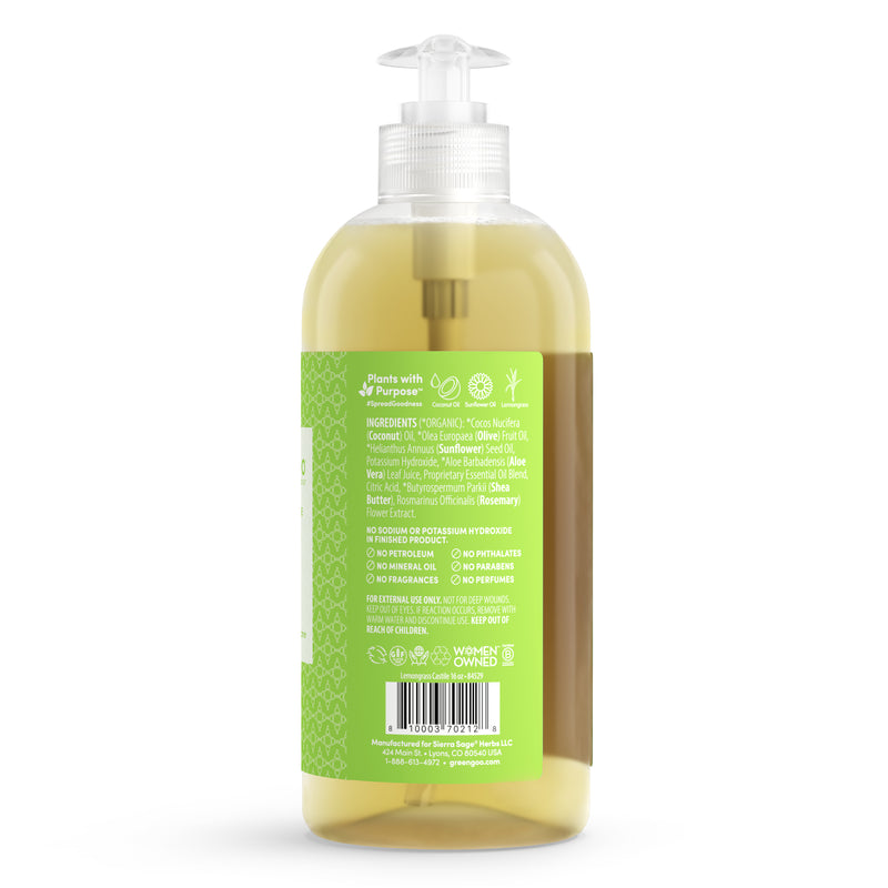 Liquid Castile Hand Soap - Lemongrass Zinger